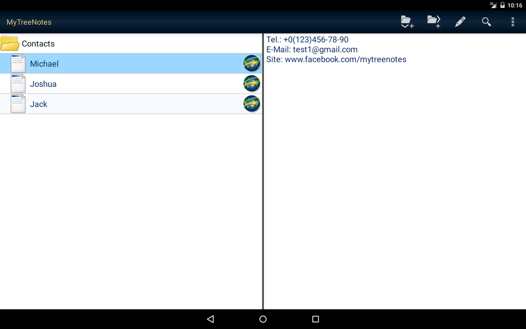 MyTreeNotes - Notepad Screenshot 3
