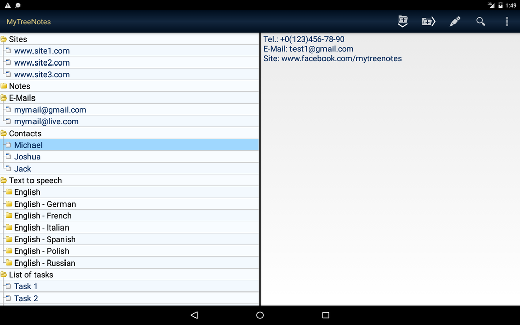 MyTreeNotes - Notepad Screenshot 4
