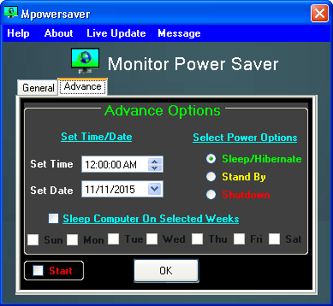 Monitor Power Saver Screenshot 2