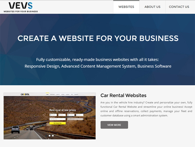 VEVS.com Screenshot