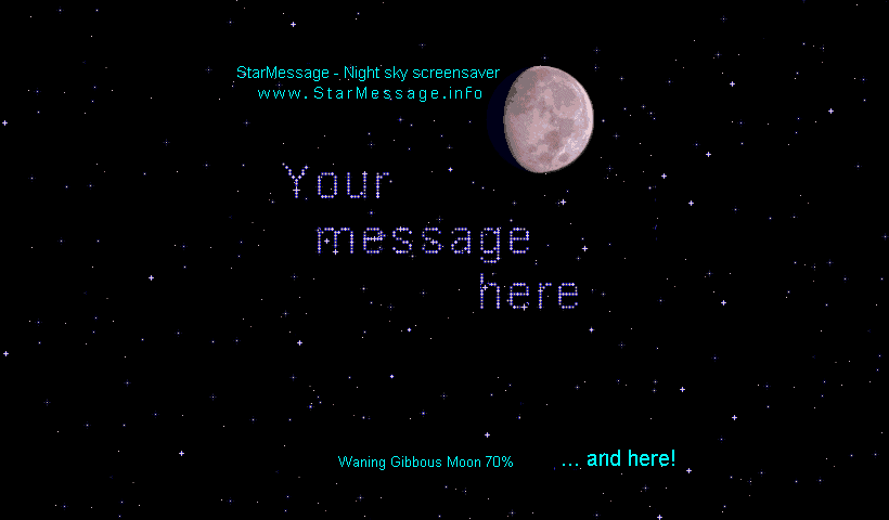 StarMessage - Moon Phases screensaver for MAC Screenshot