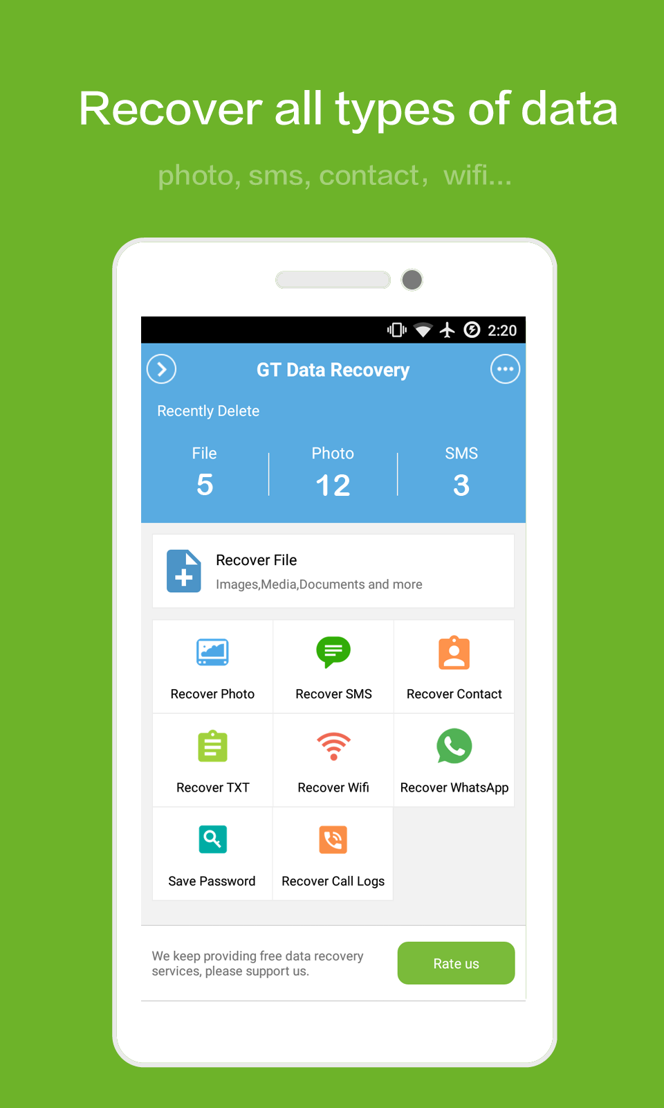 GT Recovery for Android Screenshot