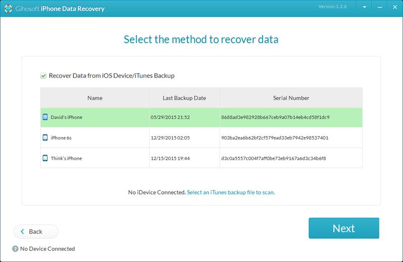 Gihosoft iPhone Data Recovery Free Screenshot 5
