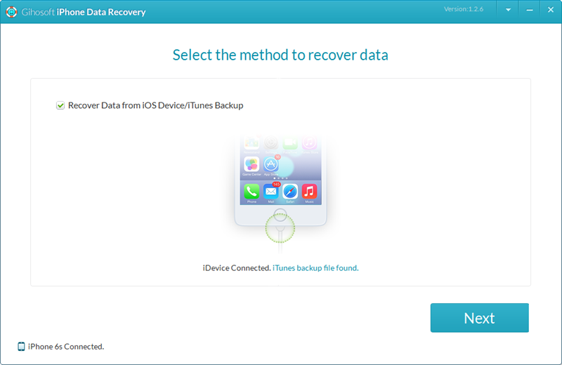 Gihosoft iPhone Data Recovery Free Screenshot 2