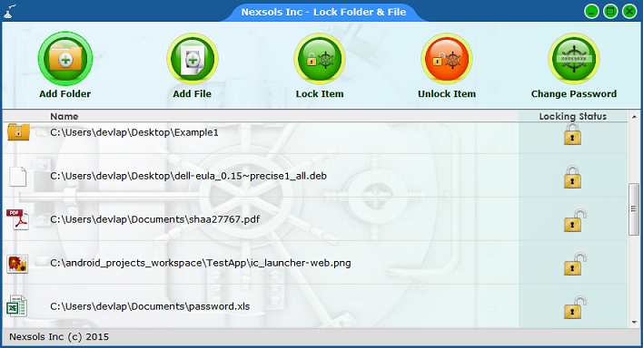 Lock Folder & Files Screenshot