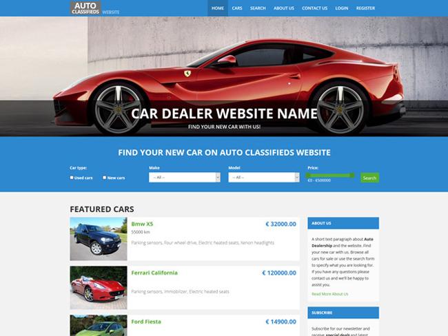 Car Dealer Website - Vevs.com Screenshot 2