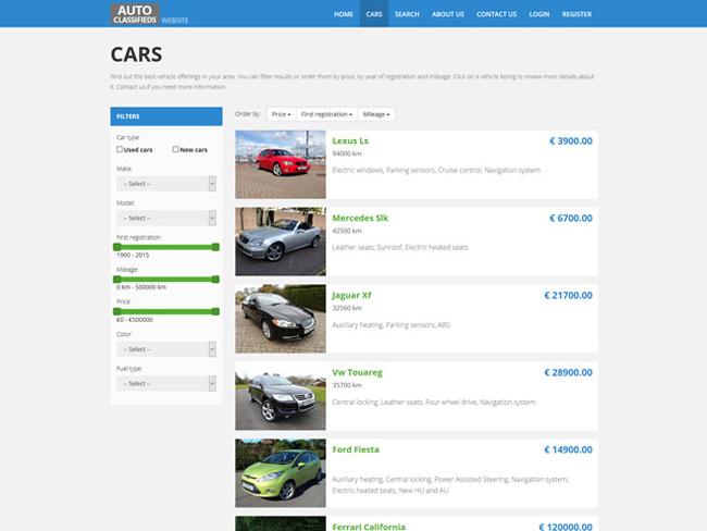 Car Dealer Website - Vevs.com Screenshot 3