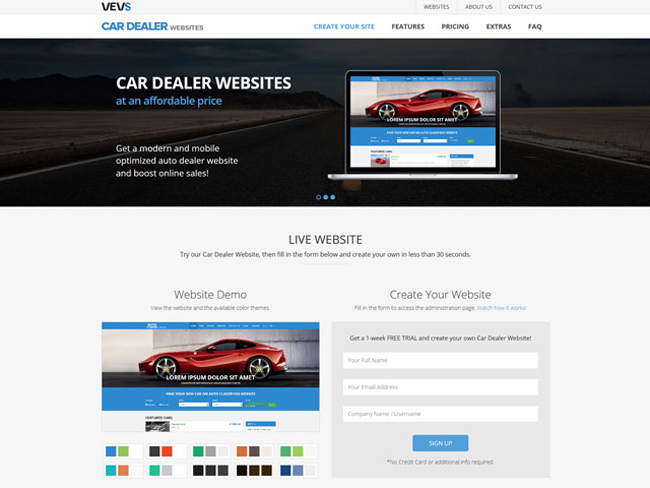 Car Dealer Website - Vevs.com Screenshot