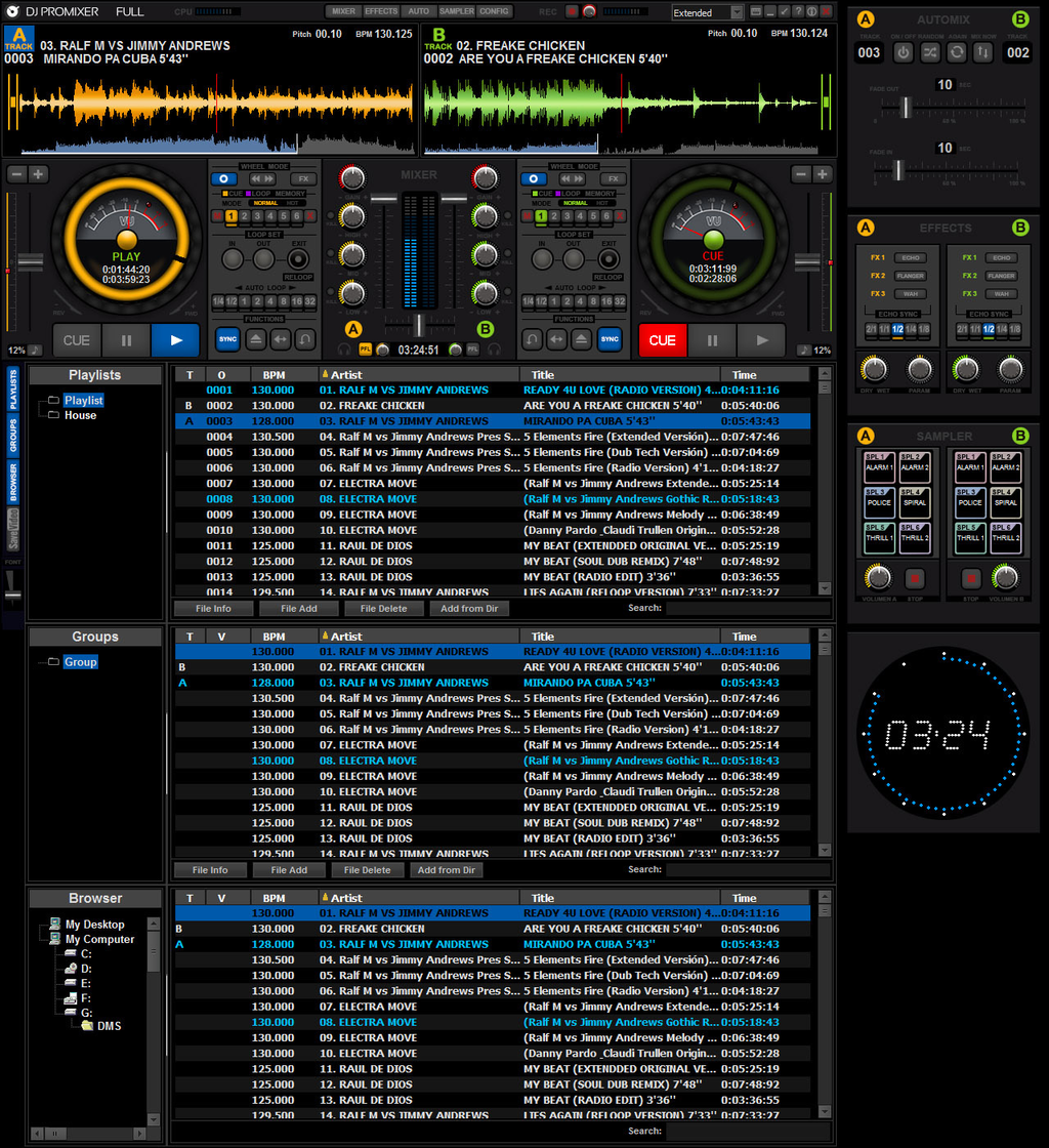 DJ ProMixer Free Home Edition Screenshot 2