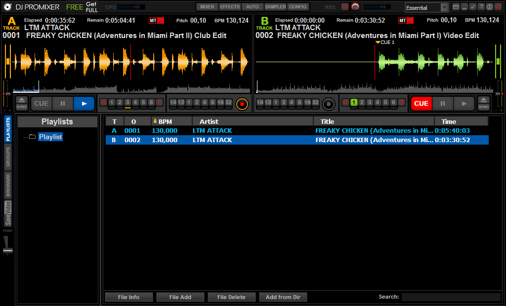 DJ ProMixer Free Home Edition Screenshot 3