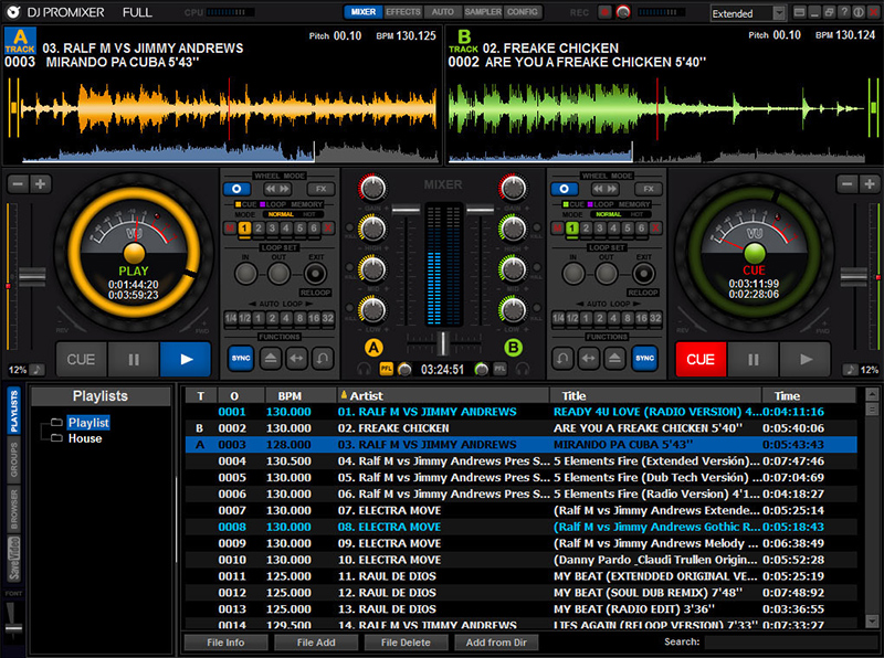 DJ ProMixer Free Home Edition Screenshot