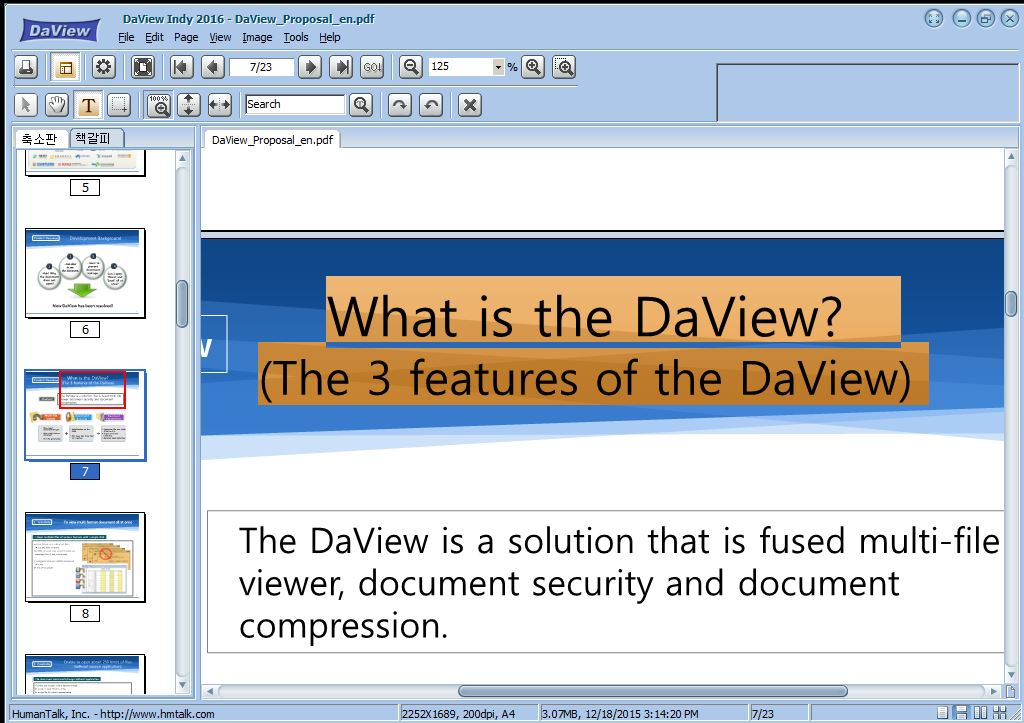 DaviewIndy - MultiViewer Screenshot
