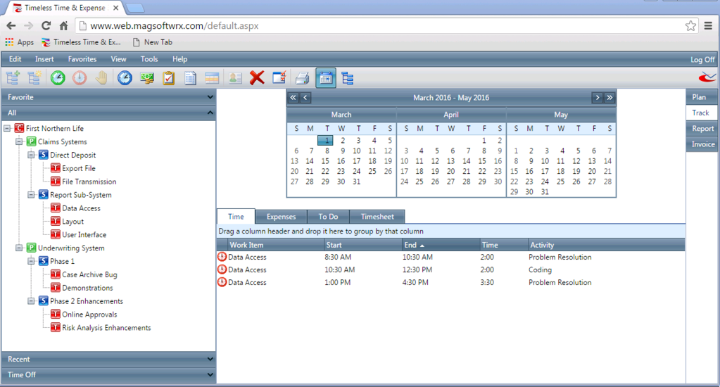 Timeless Time & Expense Screenshot 7
