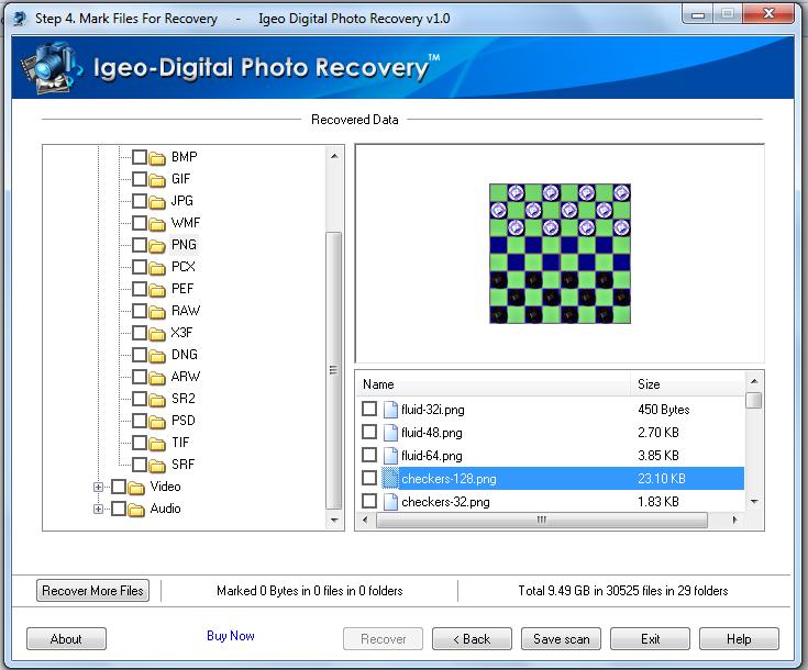 IGEO Digital Photo Recovery Software Screenshot