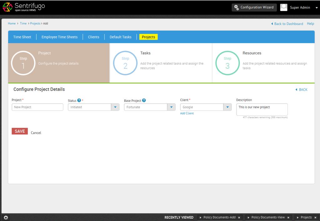 Sentrifugo Opensource HRMS Screenshot 3