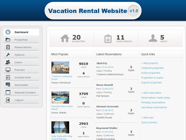 Vacation Rental Website - Vevs.com Screenshot 10