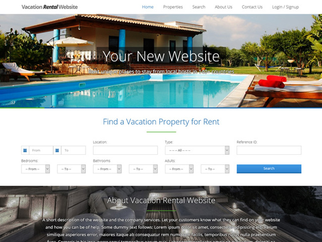 Vacation Rental Website - Vevs.com Screenshot 2
