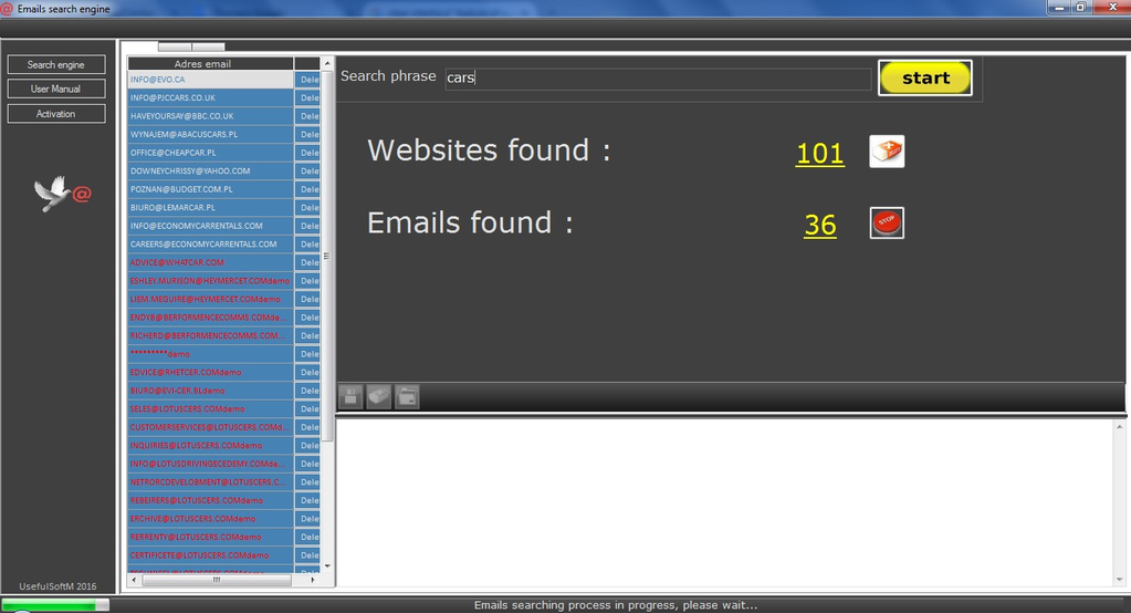Email Searcher Screenshot