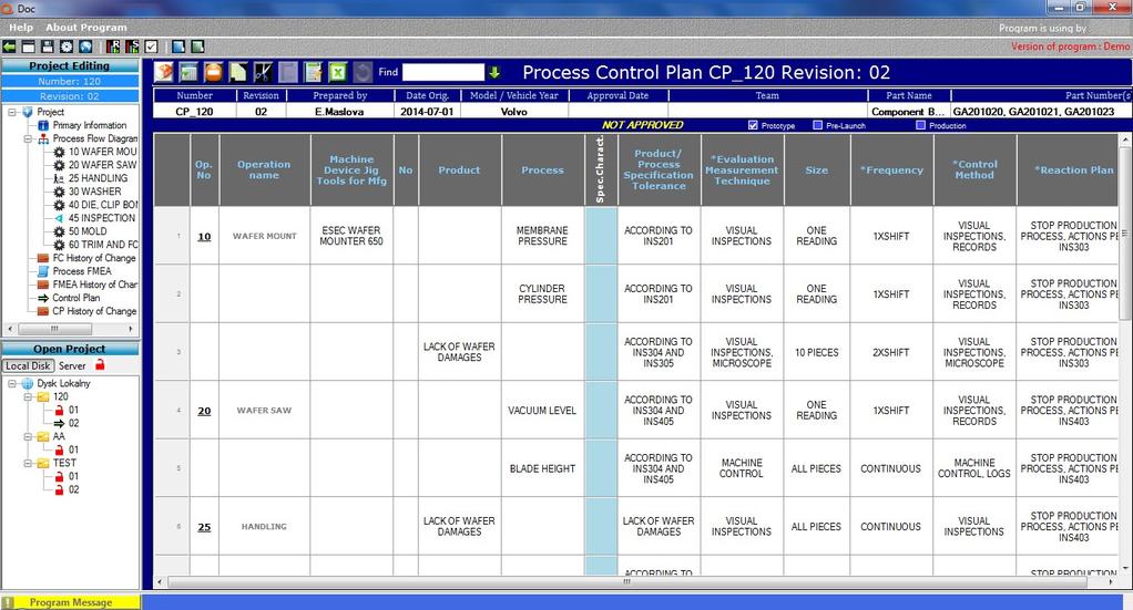 Qdoc - ProcessFlow, FMEA, Control Plan Screenshot 4