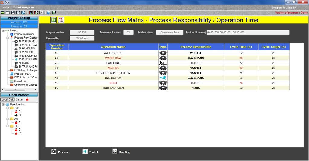 Qdoc - ProcessFlow, FMEA, Control Plan Screenshot 7