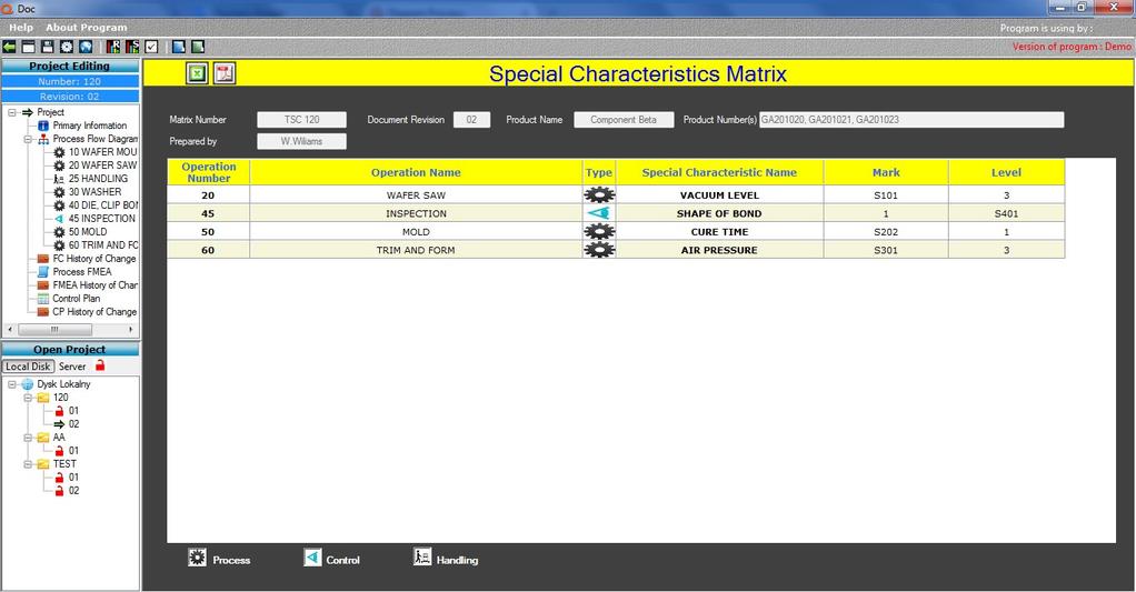 Qdoc - ProcessFlow, FMEA, Control Plan Screenshot 8