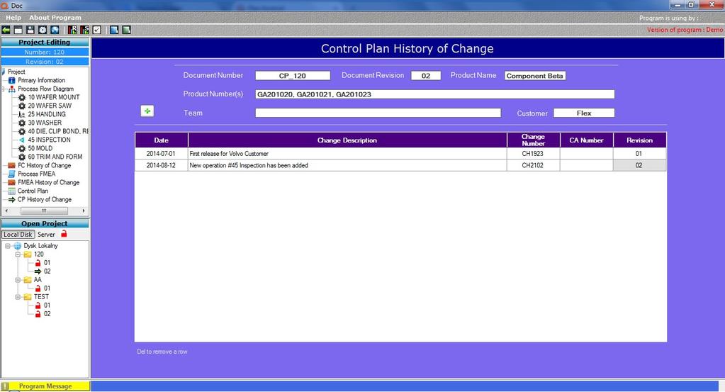 Qdoc - ProcessFlow, FMEA, Control Plan Screenshot 9