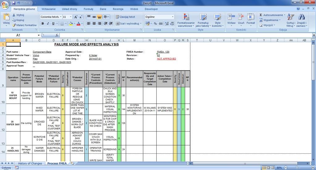 Qdoc - ProcessFlow, FMEA, Control Plan Screenshot 6