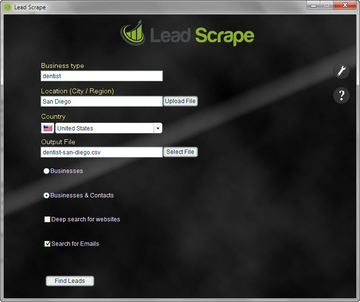 Lead Scrape Screenshot