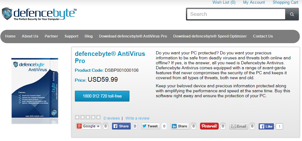 defencebyte AntiVirus Pro Screenshot 1