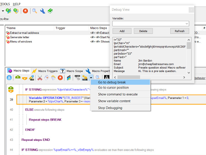 Macro Toolworks, Professional Edition Screenshot 2