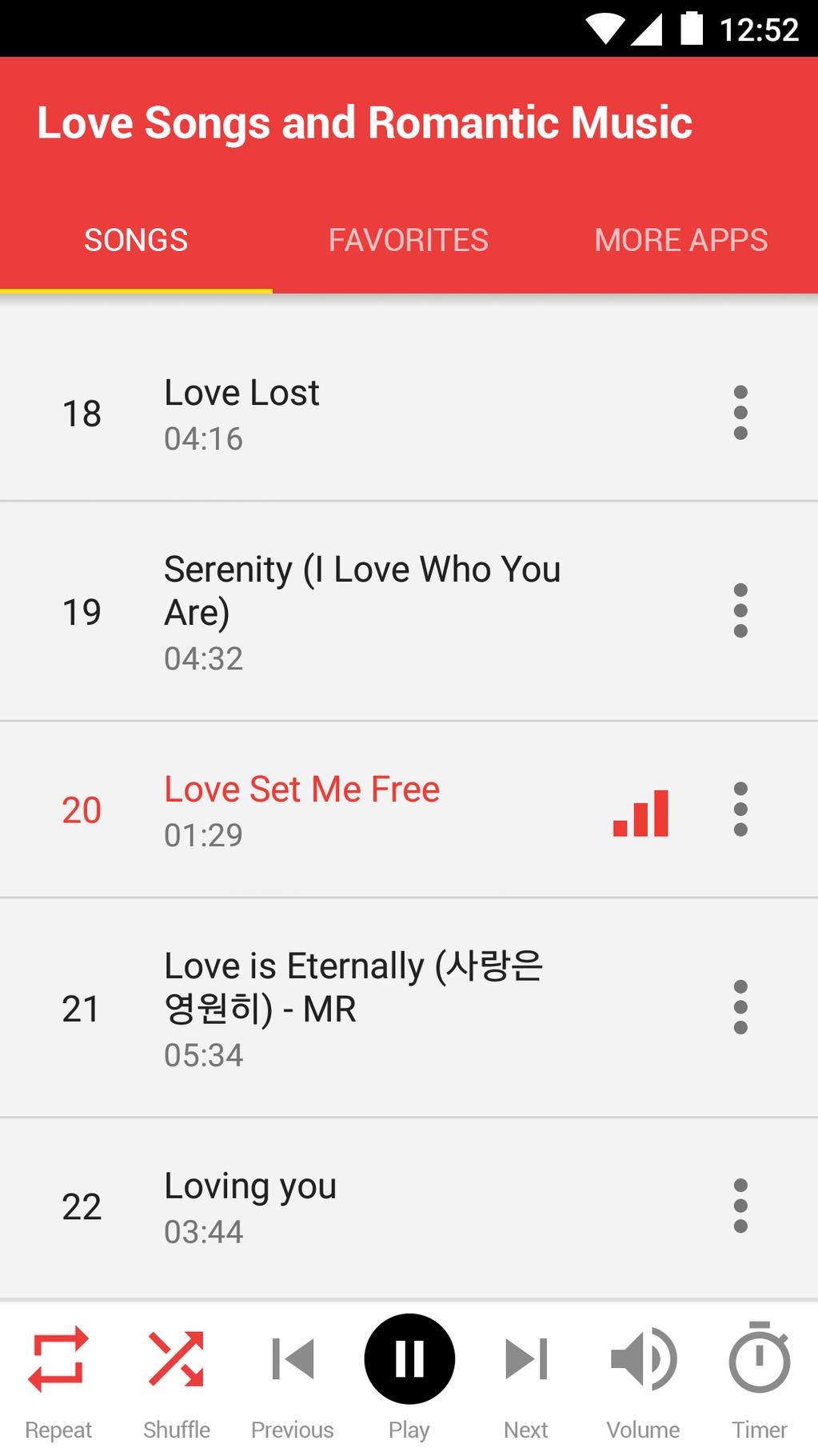 Love Songs and Romantic Music Screenshot 3