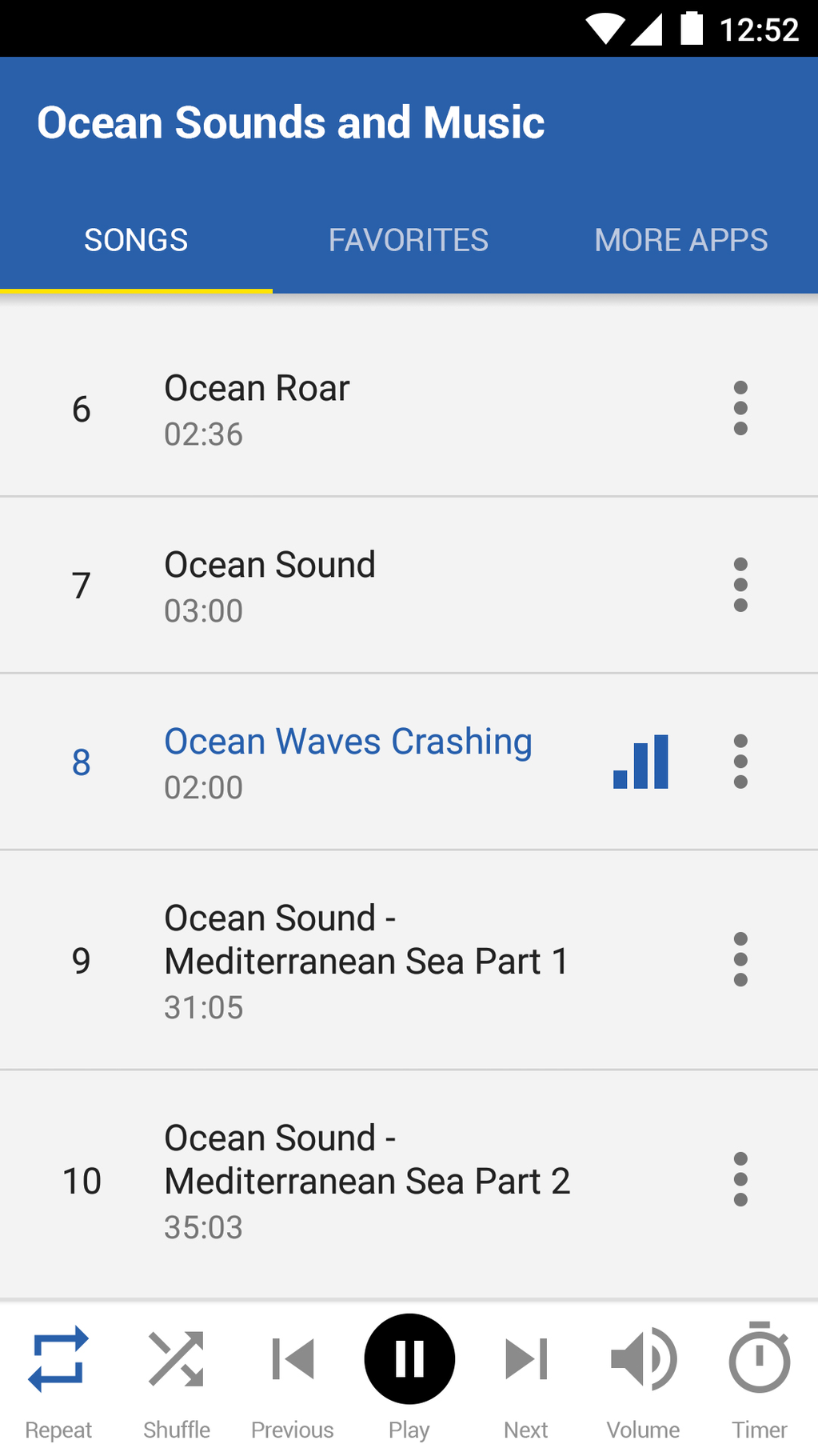 Ocean Sounds and Music Screenshot 2