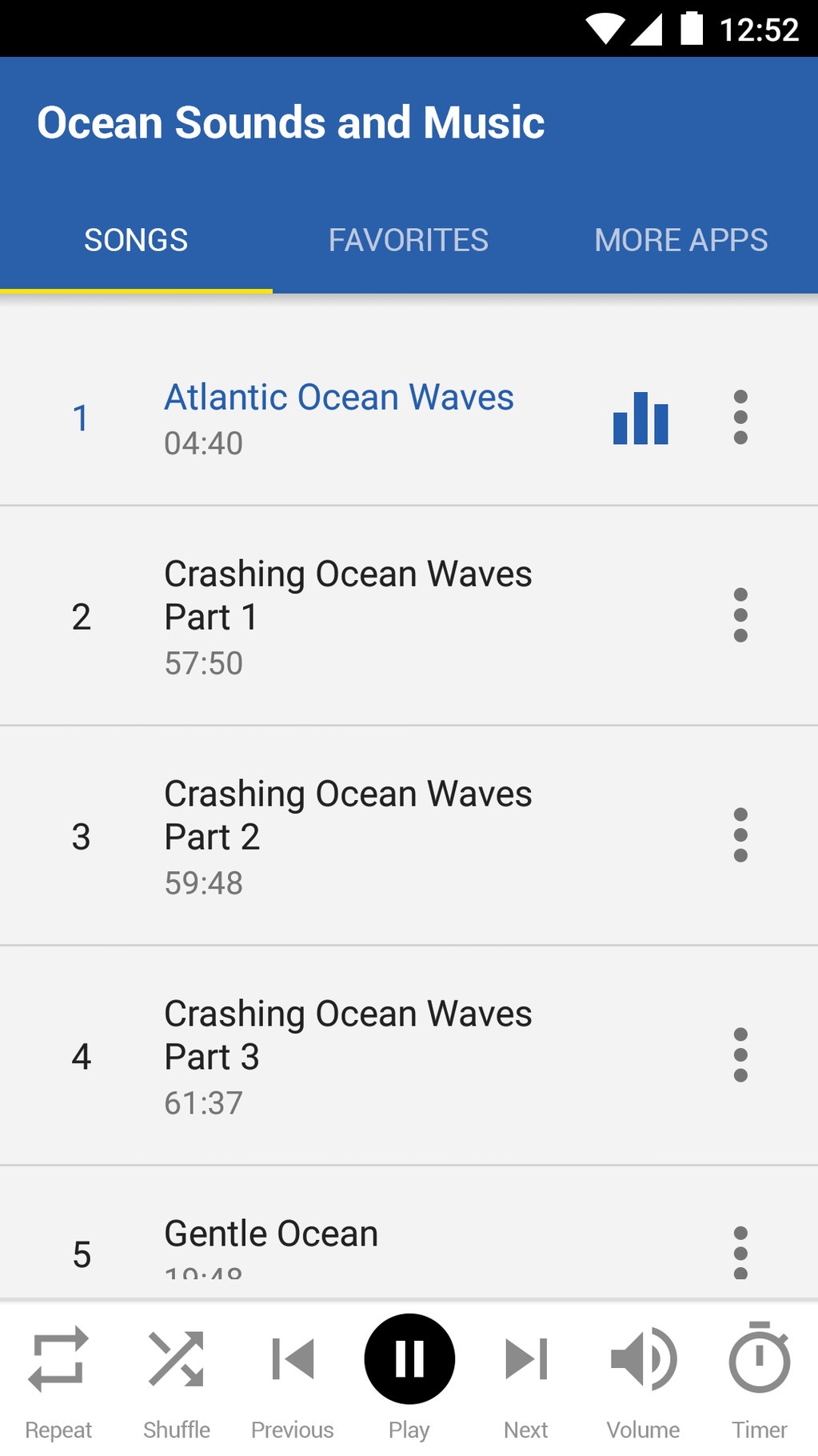 Ocean Sounds and Music Screenshot