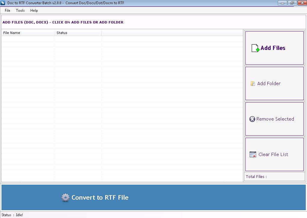 Doc to RTF Converter Batch Screenshot 2