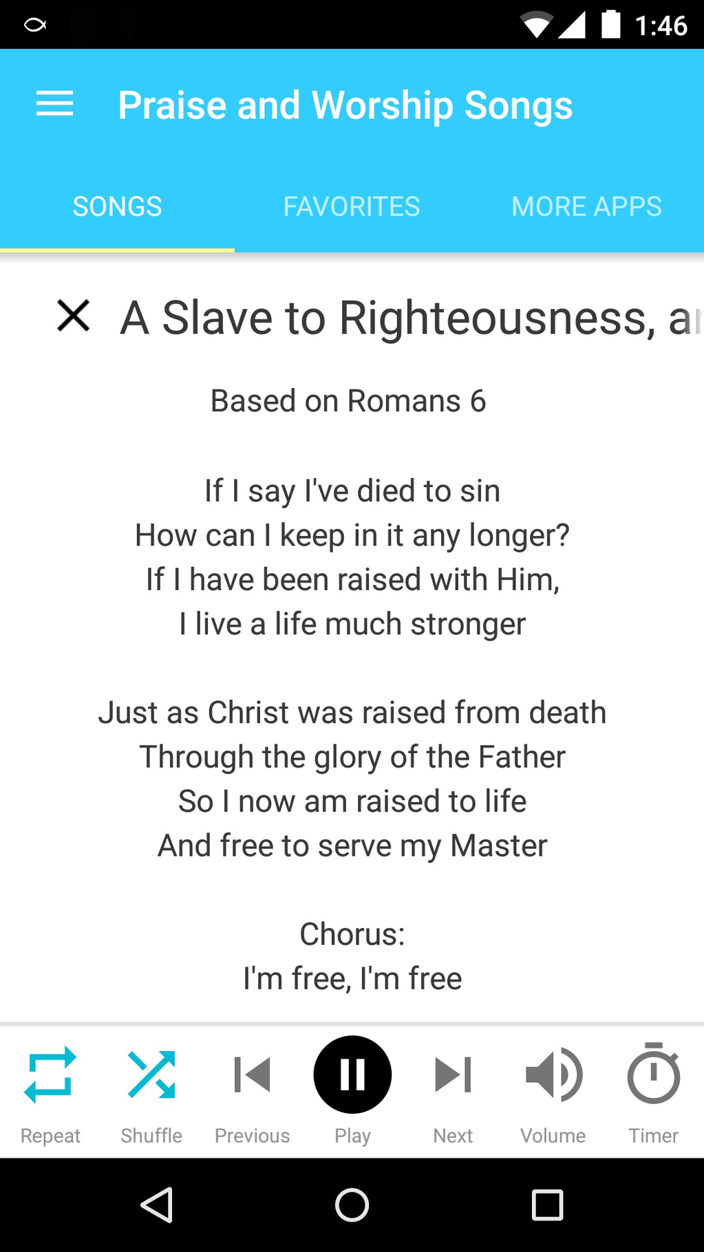 Christian Songs and Music Screenshot 6