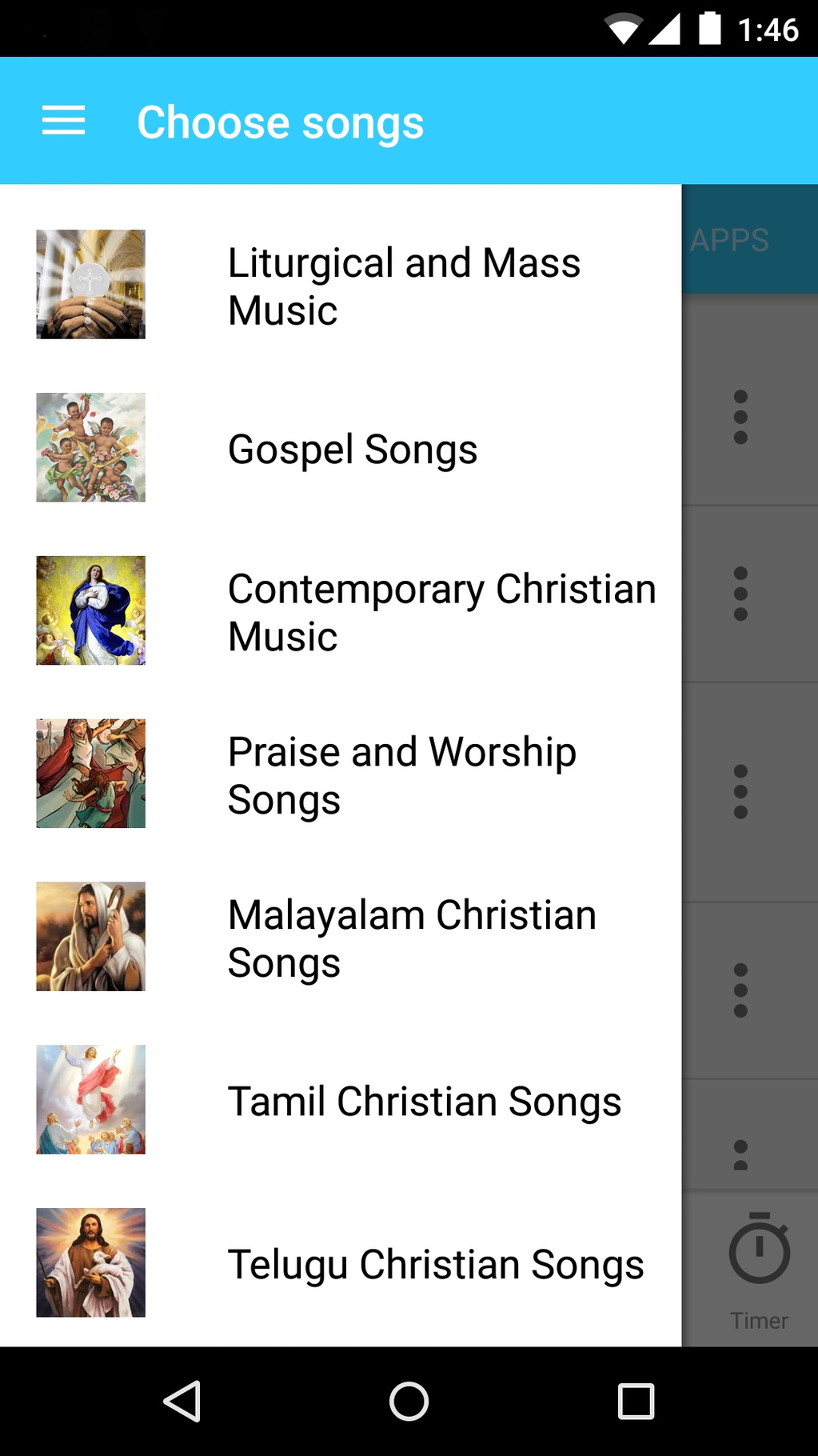 Christian Songs and Music Screenshot