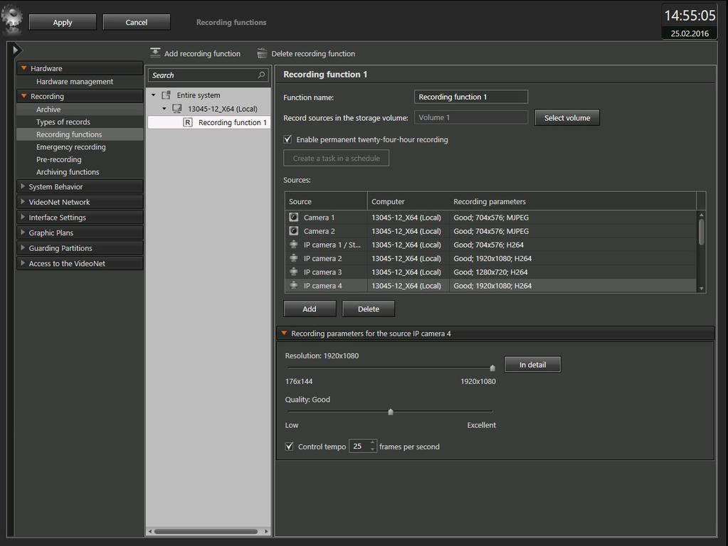 VideoNet 9 Prime Client Screenshot 2