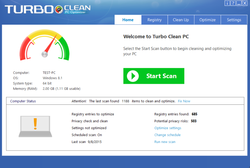 Turbo Clean PC - PC Optimizer Screenshot 1