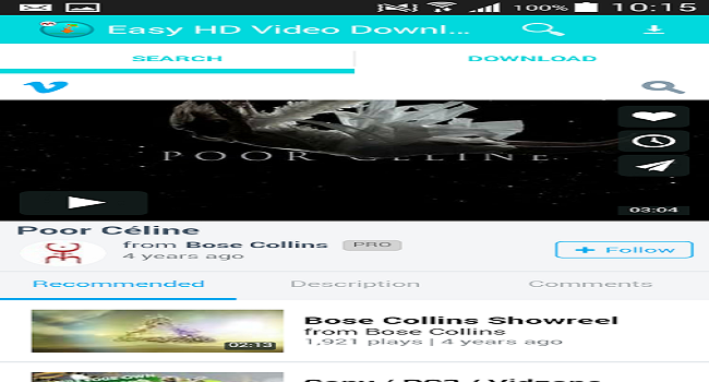 Easy HD Video Downloader Screenshot 3