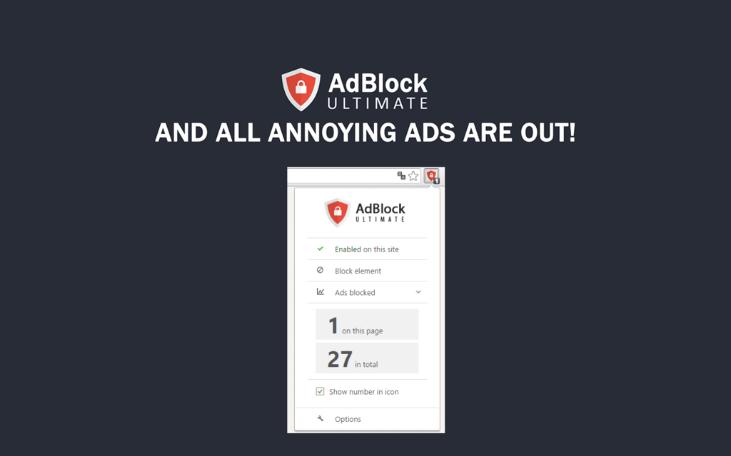 AdBlocker Ultimate for Chrome Screenshot
