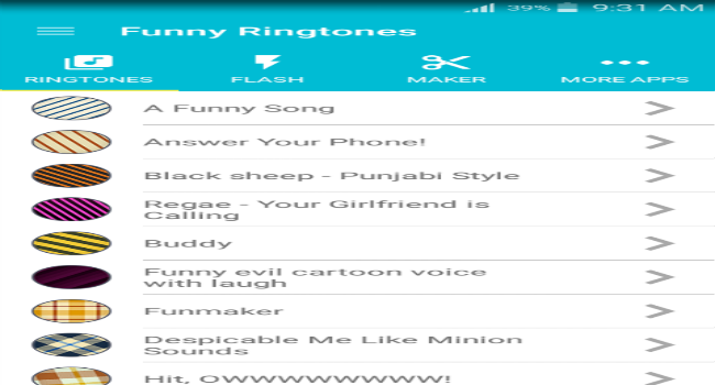 Funny ringtones Screenshot