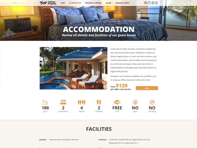 Holiday Property Website - Vevs.com Screenshot 3