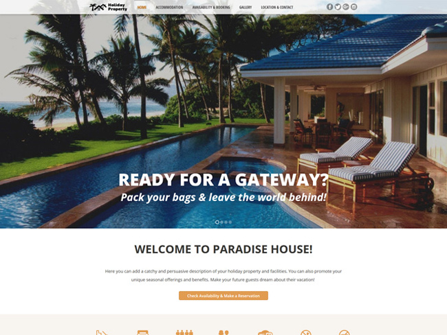 Holiday Property Website - Vevs.com Screenshot 2