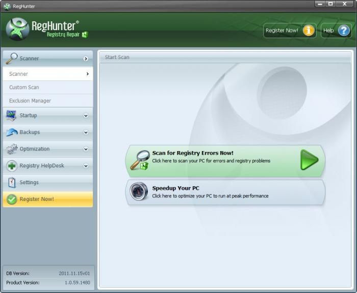 Registry Repair Tool Screenshot