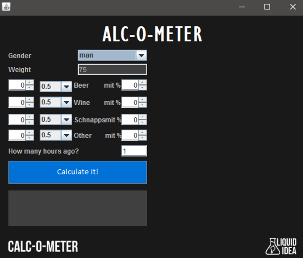 Alc-O-Meter Screenshot