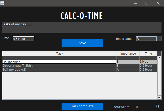 Calc-O-Time Screenshot 1
