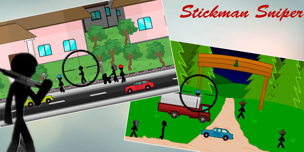 Stickman Sniper Shooter free Screenshot