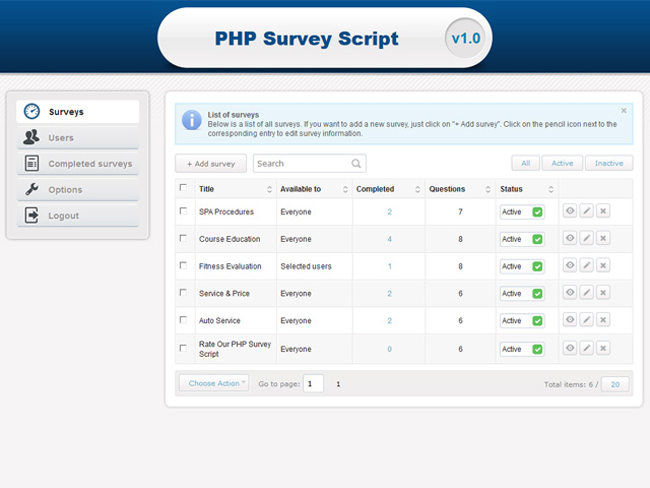 PHP Survey Script Screenshot 5