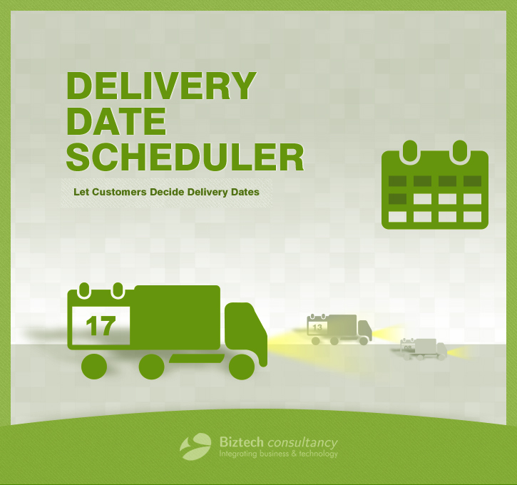 Delivery Date Scheduler MagentoExtension Screenshot