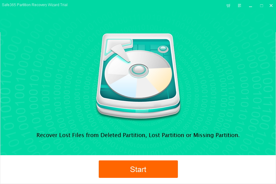 Safe365 Partition Recovery Wizard Screenshot 1